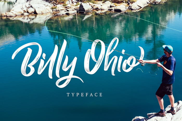 Billy Ohio Font poster