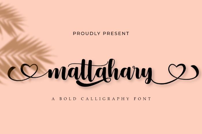Mattahary Font poster