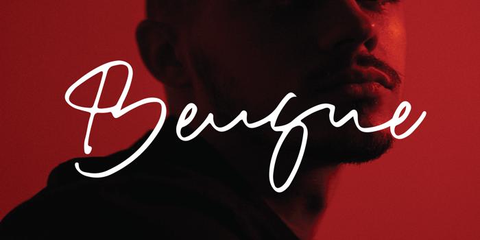 Bensue Font poster