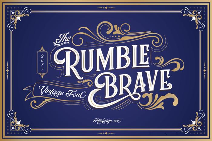 Rumble Brave Font poster