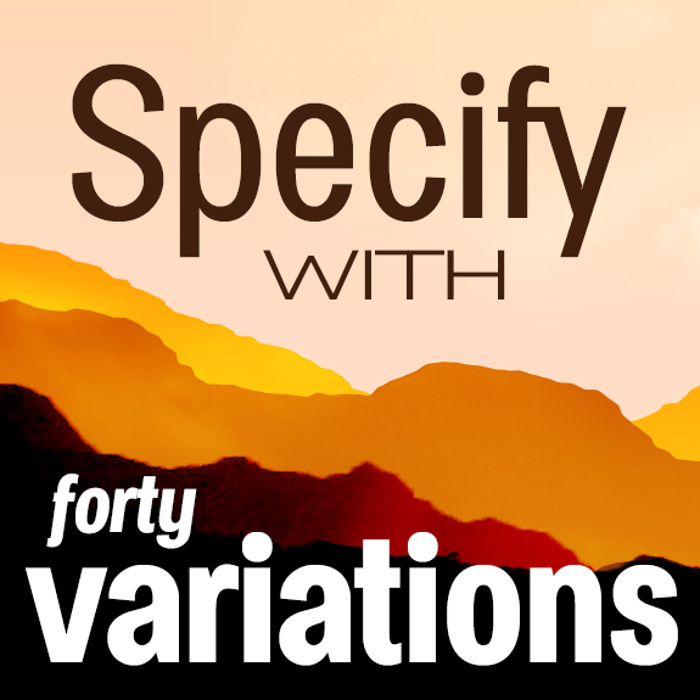 Specify Font poster