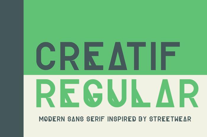 Creatif Font poster