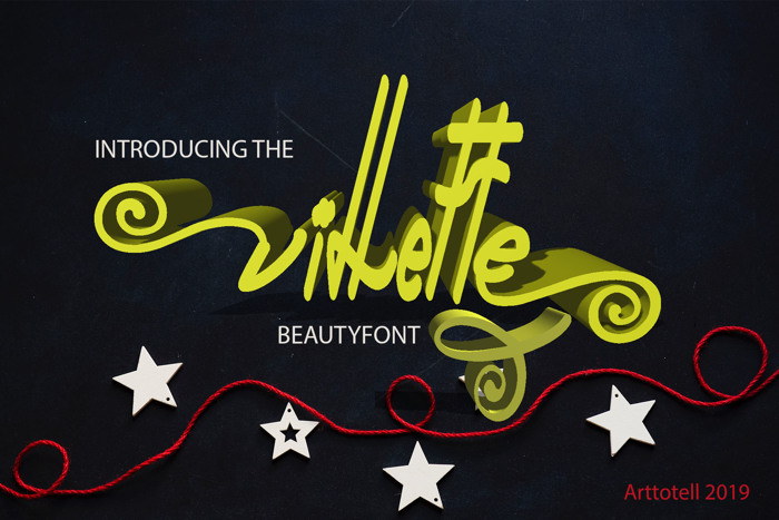 Villette Reguler Font poster