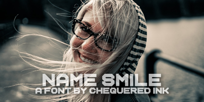 Name Smile Font poster