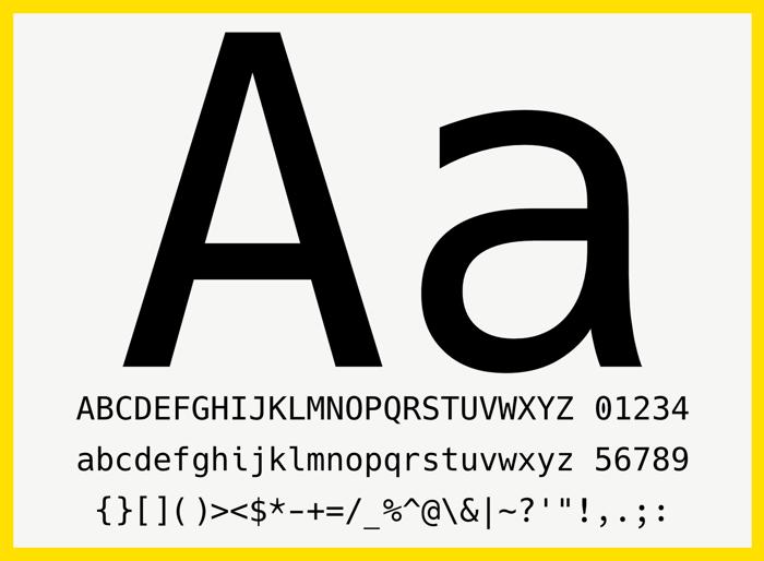 Hack Font poster