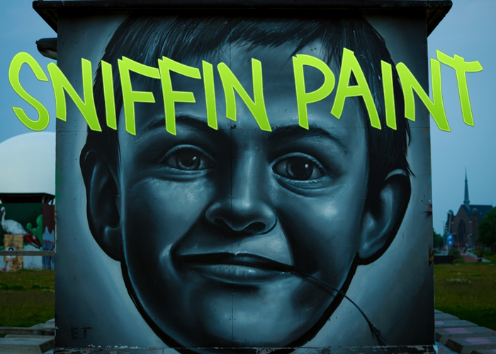 Sniffin Paint Font poster