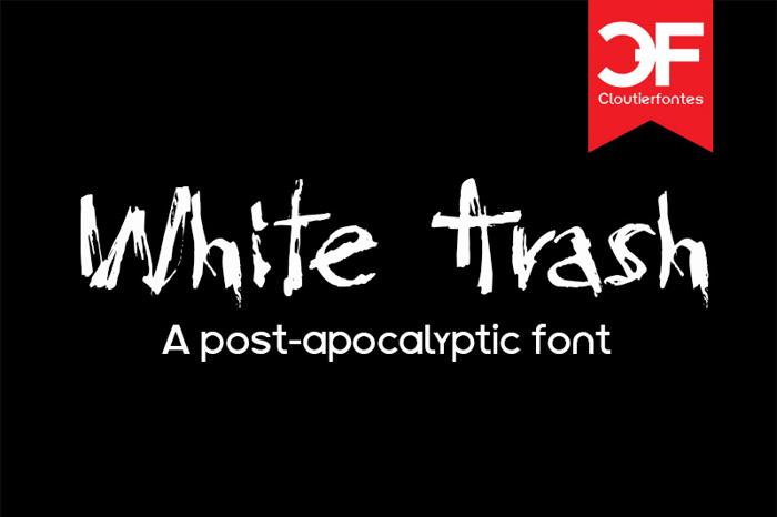 CF White Trash Font poster