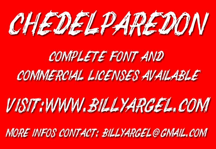 CHEDELPAREDON Font poster