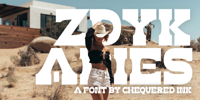 Zdyk Aries Font poster
