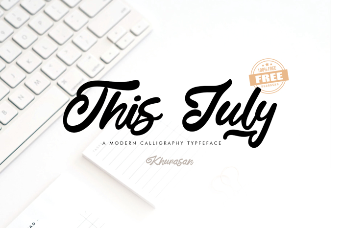 This July Font poster