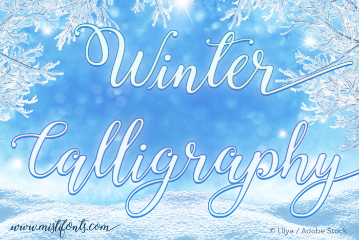 Winter Calligraphy Font poster