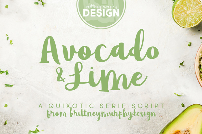 Avocado & Lime Font poster
