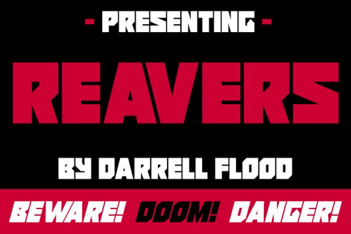 Reavers Font poster