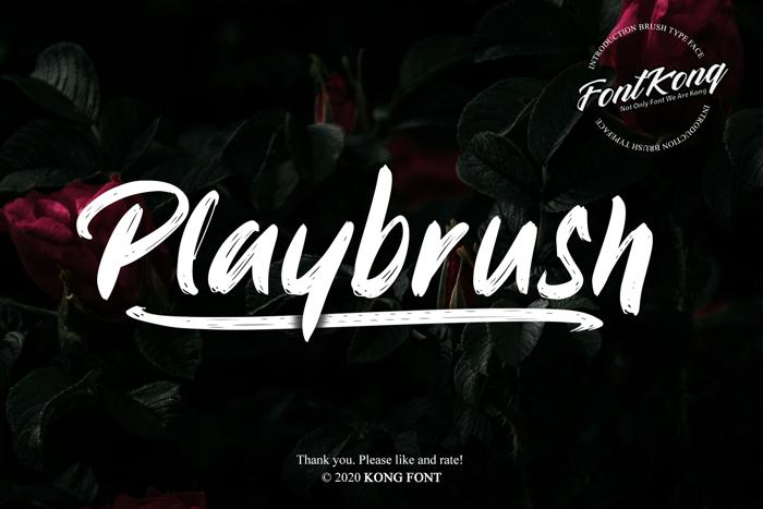 Playbrush Font poster