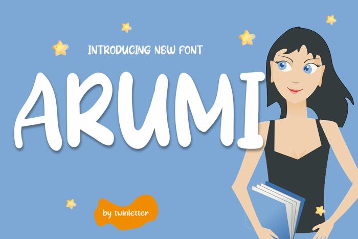 Arumi Font poster
