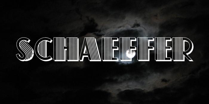 Schaeffer Font poster