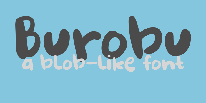 DK Burobu Font poster
