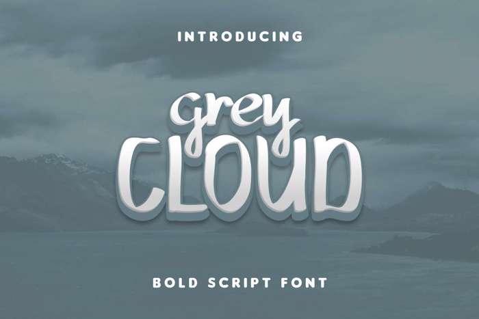 Grey Cloud Font poster