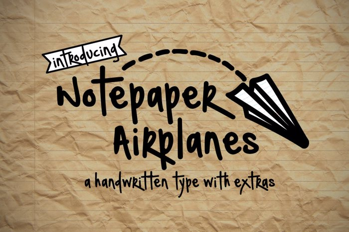 Notepaper Airplanes Font poster