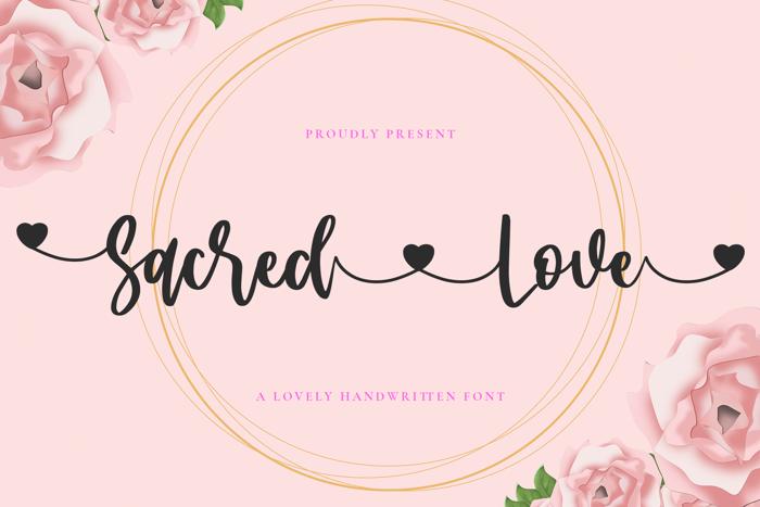 sacred Love Font poster