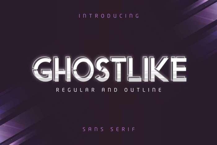 Ghostlike Font poster