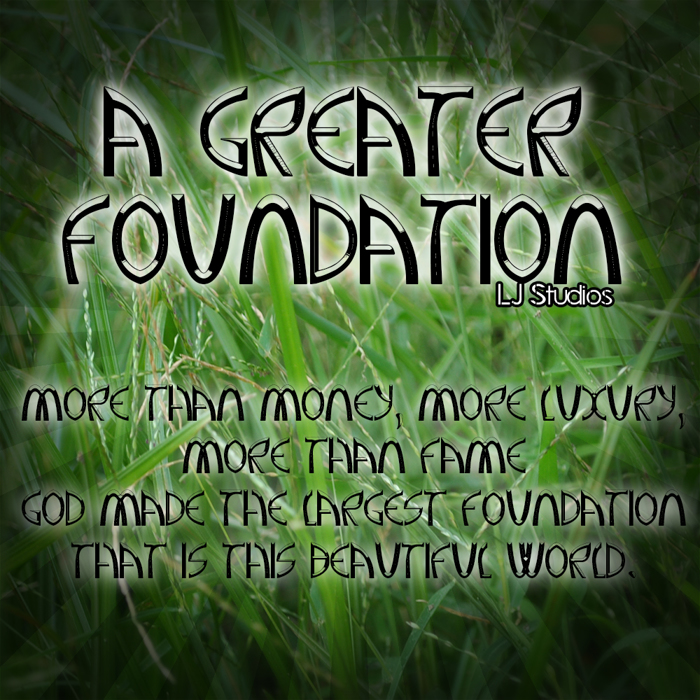 A Greater Foundation Font poster