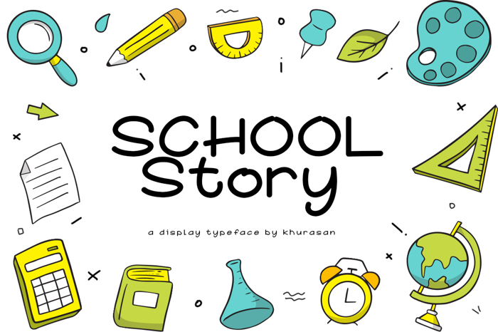 School Story Font poster
