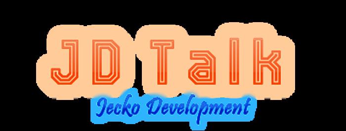 JD Talk Font poster