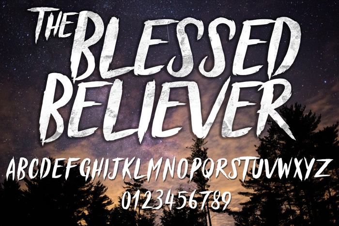 Blessed Believer Font poster