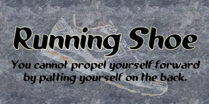 Running shoe Font poster
