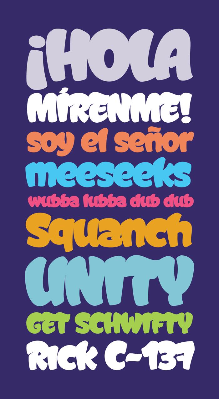 Graffismo Font poster