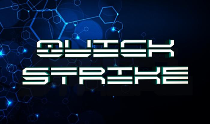 QuickStrike Font poster