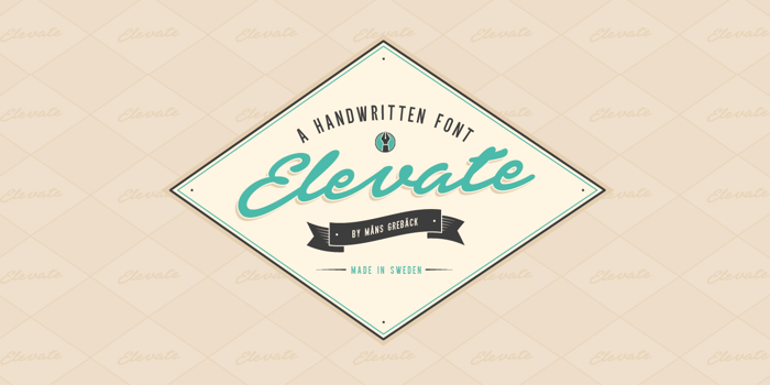 Elevate Font poster