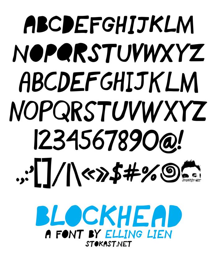 blockhead Font poster