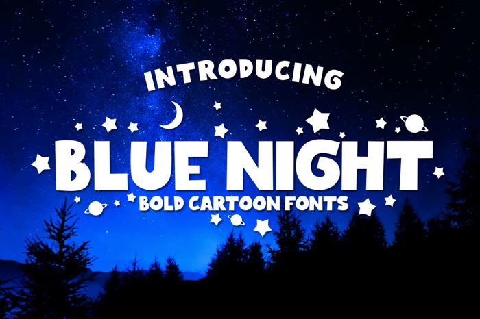Blue Night Font poster