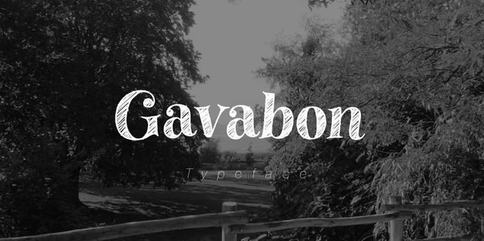 Gavabon Font poster