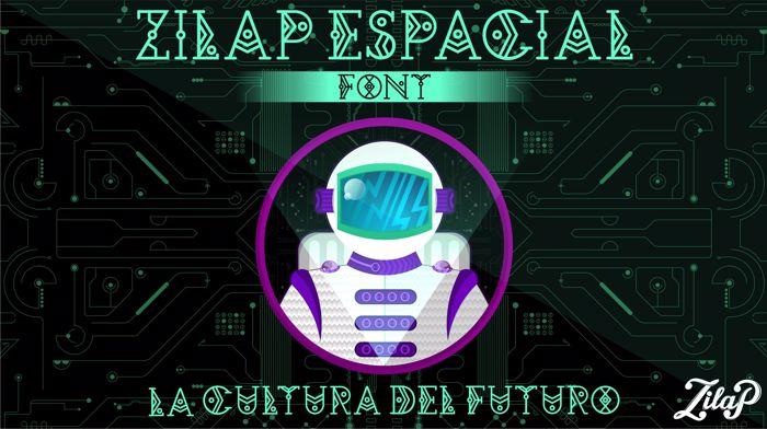 Zilap Espacial Font poster