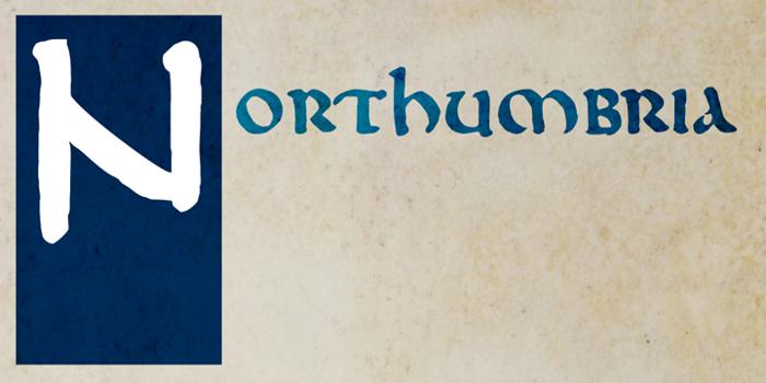 DK Northumbria Font poster