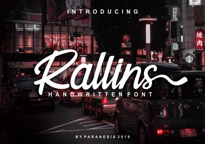 Rallins Font poster