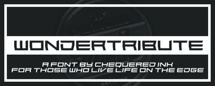 Wondertribute Font poster