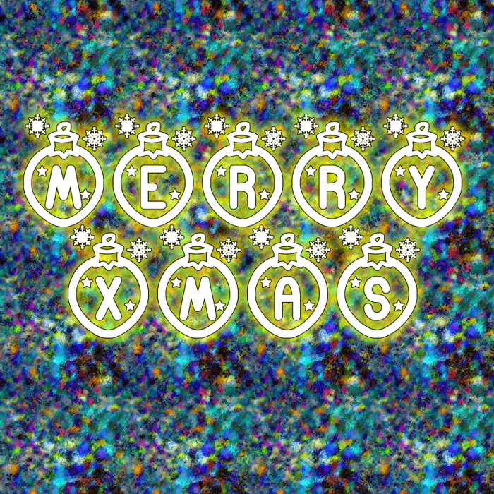 Merry Xmas St Font poster