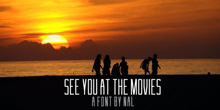 See You At The Movies Font poster