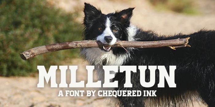 Milletun Font poster