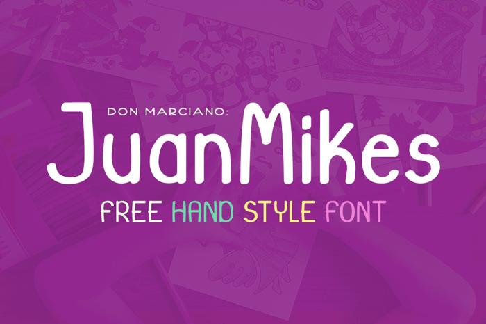 JuanMikes Font poster