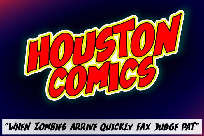 Houston Comics Font poster