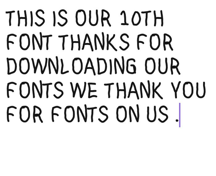Thin IQ Font poster