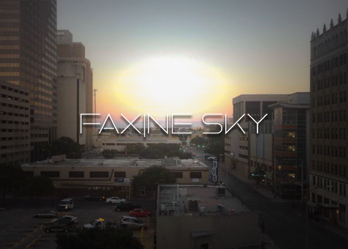 Faxine Sky Font poster
