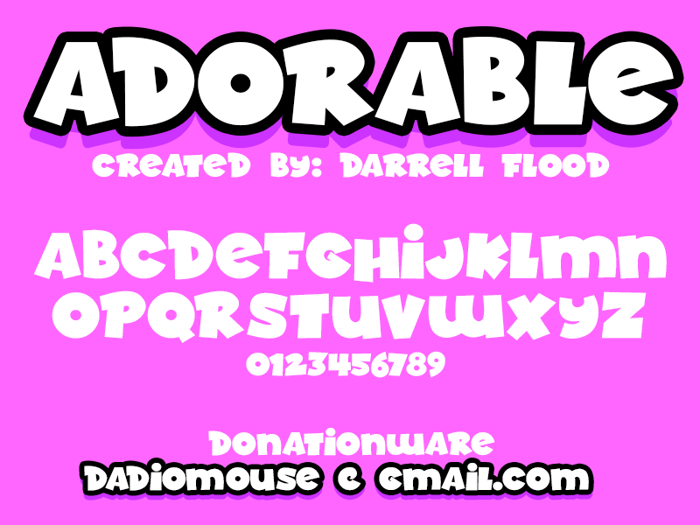 Adorable Font poster