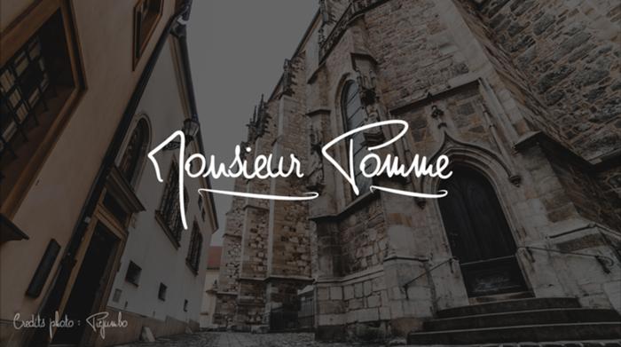 Monsieur Pomme Font poster