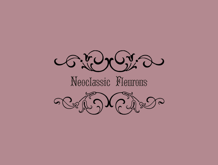 Neoclassic Fleurons Free Font poster